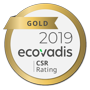 Gold rating from EcoVadis for sustainability